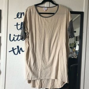 Cream & Gray Tunic Irma LuLaRoe Shirt